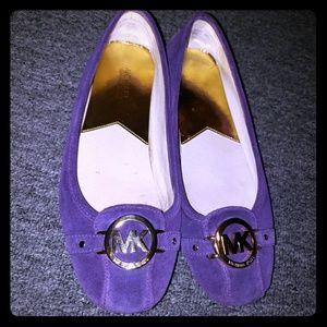 Michael Kors purple suede flats